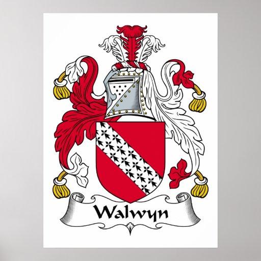 Escudo de la familia de Walwyn Impresiones