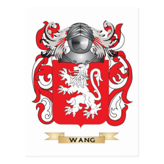 Escudo de la familia de Wang (escudo de armas) Tarjeta Postal