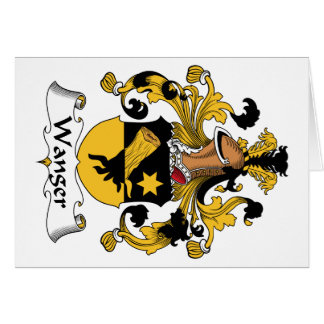 Escudo de la familia de Wanger Tarjeta De Felicitación