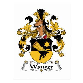 Escudo de la familia de Wanger Tarjetas Postales