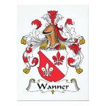Escudo de la familia de Wanner Invitación 16,5 X 22,2 Cm