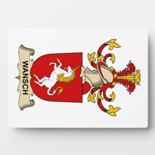 Escudo de la familia de Wansch Placas