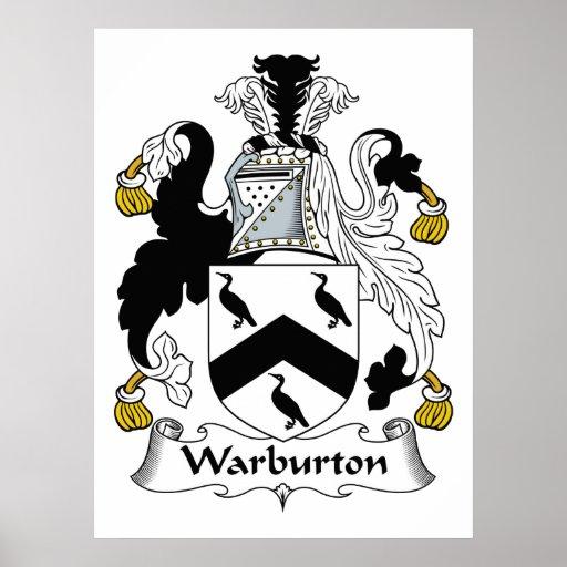 Escudo de la familia de Warburton Impresiones