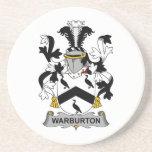Escudo de la familia de Warburton Posavaso Para Bebida
