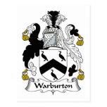 Escudo de la familia de Warburton Postal