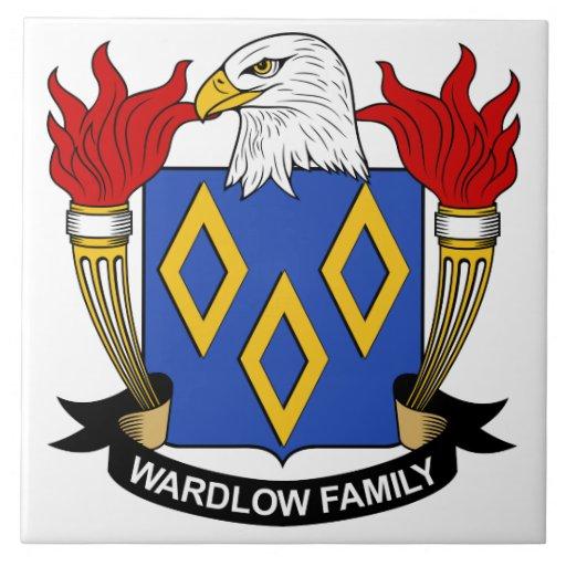 Escudo de la familia de Wardlow Azulejo Ceramica