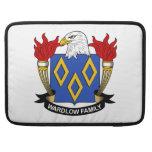 Escudo de la familia de Wardlow Fundas Para Macbook Pro