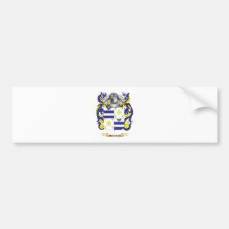 Escudo de la familia de Wareing (escudo de armas) Etiqueta De Parachoque