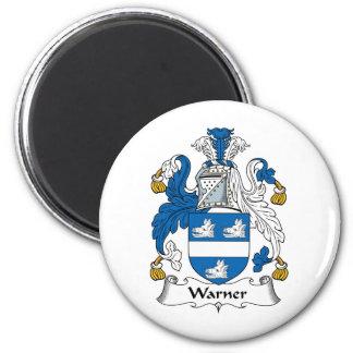 Escudo de la familia de Warner Imán Redondo 5 Cm
