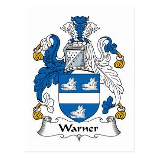Escudo de la familia de Warner Tarjeta Postal