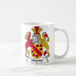 Escudo de la familia de Warner Tazas De Café