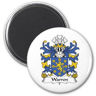 Escudo de la familia de Warren Imán Redondo 5 Cm