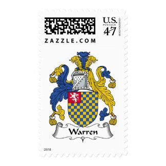 Escudo de la familia de Warren Timbre Postal
