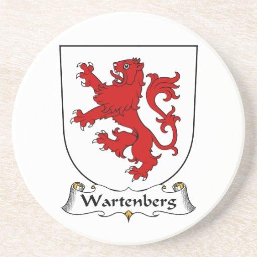 Escudo de la familia de Wartenberg Posavasos Cerveza
