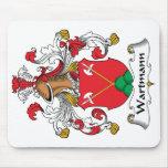 Escudo de la familia de Wartmann Tapetes De Raton