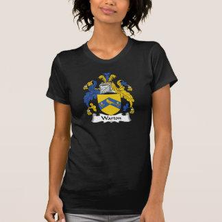 Escudo de la familia de Warton Camisetas