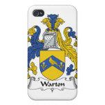 Escudo de la familia de Warton iPhone 4/4S Carcasas