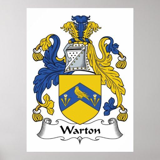 Escudo de la familia de Warton Impresiones