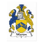 Escudo de la familia de Warton Tarjeta Postal