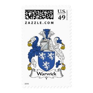 Escudo de la familia de Warwick Franqueo