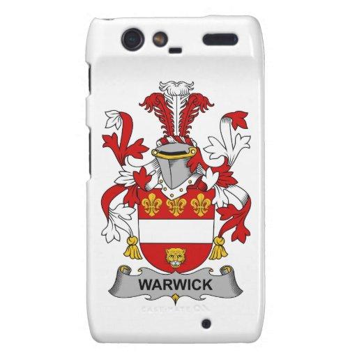 Escudo de la familia de Warwick Motorola Droid RAZR Fundas