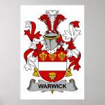 Escudo de la familia de Warwick Posters