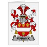 Escudo de la familia de Warwick Tarjeta