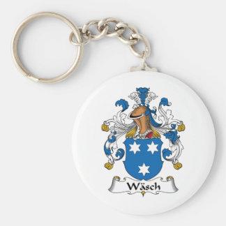 Escudo de la familia de Wasch Llaveros Personalizados