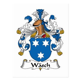 Escudo de la familia de Wasch Tarjetas Postales