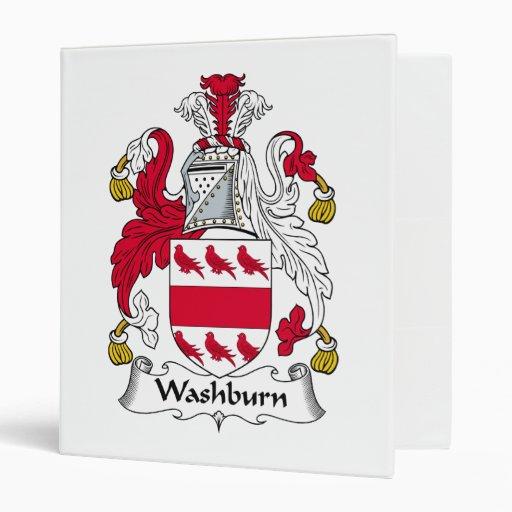 "Escudo de la familia de Washburn Carpeta 1"""