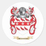 Escudo de la familia de Washburne (escudo de Pegatina Redonda