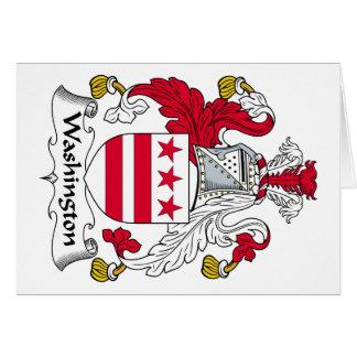 Escudo de la familia de Washington Tarjeta De Felicitación