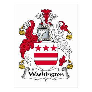Escudo de la familia de Washington Tarjeta Postal