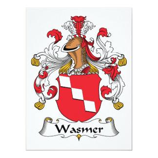 Escudo de la familia de Wasmer Invitacion Personal