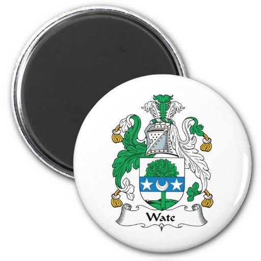 Escudo de la familia de Wate Imán Redondo 5 Cm