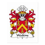 Escudo de la familia de Watkins Postales