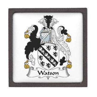 Escudo de la familia de Watson Caja De Joyas De Calidad