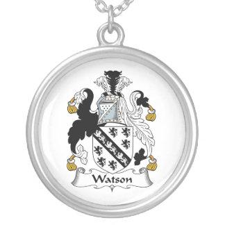 Escudo de la familia de Watson Pendiente Personalizado