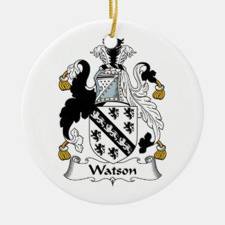 Escudo de la familia de Watson Adorno Redondo De Cerámica