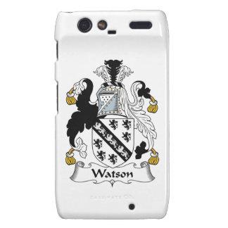 Escudo de la familia de Watson Motorola Droid RAZR Fundas