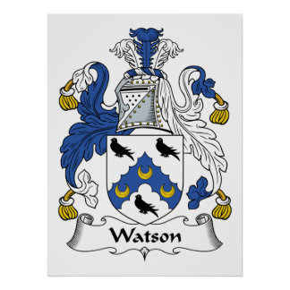 Escudo de la familia de Watson Impresiones