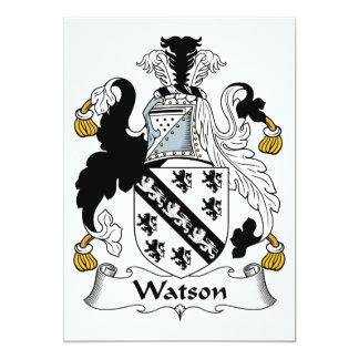 """Escudo de la familia de Watson Invitación 5"""" X 7"""""""
