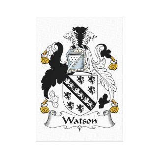 Escudo de la familia de Watson Lona Envuelta Para Galerias