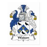 Escudo de la familia de Watson Postales