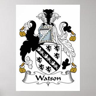 Escudo de la familia de Watson Póster
