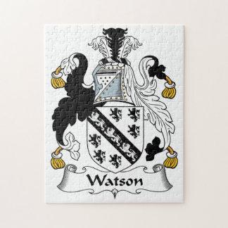 Escudo de la familia de Watson Rompecabezas Con Fotos