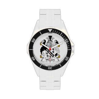 Escudo de la familia de Watson Relojes De Mano