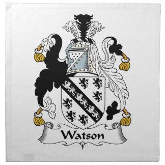 Escudo de la familia de Watson Servilleta