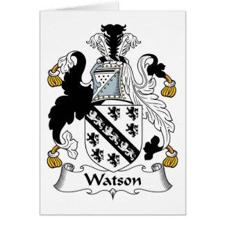Escudo de la familia de Watson Tarjeta De Felicitación