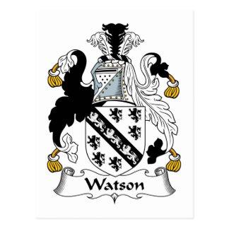 Escudo de la familia de Watson Tarjeta Postal